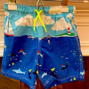 MINI BODEN SWIMMING TRUNKS JAMMERS SURF SHORTS UV40 Size 9-10 years BRAND NEW